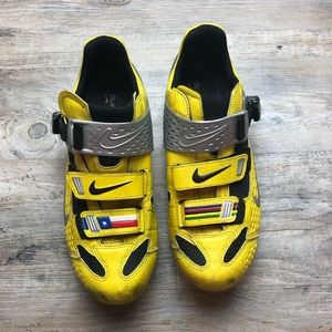 Nike lance armstrong yellow cycling shoes road